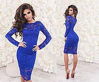 Женское нарядное гипюровое платье