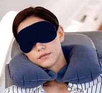 Надувная подушка подголовник для путешествий и отдыха