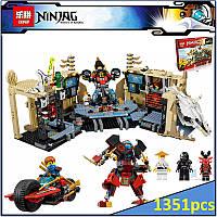 Конструктор Lepin 06039 Самурай Х Пещера хаоса- аналог Lego Ninjago 70596, 1351 деталь, развивающие игрушки