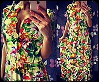 Модное женское платье в пол