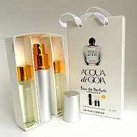 Мини парфюмерия Armani Acqua di Gioia (Армани Аква Ди Джоя) с феромонами + 2 запаски, 3x15 мл.
