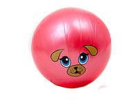 Мяч детский 9 дюймов, одностикерный, ПВХ, 75г, 10видов (мордочки животных) ()