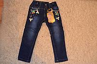 Утепленные джинсы для девочек оптом  98-128 см