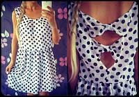 Красивое платье из шифона в горошек