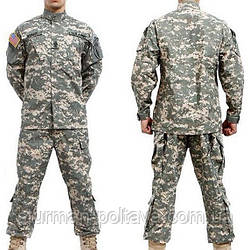 Костюм армейский камуфляж -ACU  digital  состав  нейлон + котон NY+CO  плетение рип-стоп  Tesar Германия