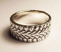 Кольцо серебряное Шина Водителю