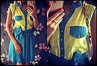 Стильное платье из джинса