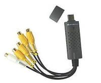 Система безопасности регистратор EasyCAP 02 4Channel USB 2.0 DVR, видеорегистратор преобразователь 4-канальный
