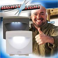 Светильник с датчиком движения Mighty Ligth, автоматический светильник подсветка, светодиодный ночник