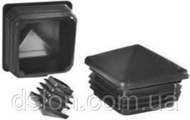 Заглушка 60х60 пирамидальная  квадратная черная внутренняя