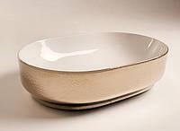 Золотая раковина на столешницу 60 см Hidra Gio G60, фото 1