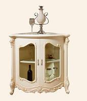 Витрина угловая низкая в классическом стиле, гостиная Верона, 8833 (Витрина Элиза)