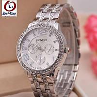 Кварцевые женские часы Geneva Silver