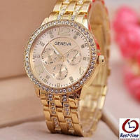 Кварцевые женские часы Geneva Gold