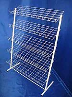Стеллаж стойка метал 1300/980мм для обуви,книг,постельного 5 полок