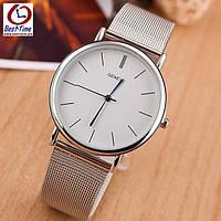 Кварцевые женские часы Geneva Steel Silver
