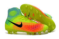 Футбольные бутсы Nike Magista Obra II FG Volt/Black/Total Orange, фото 1