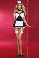 Игровой костюм шаловливой горничной Livia Corsetti Flirty maid S/M, черный+белый