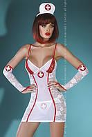 Игровой костюм шаловливой медсестры Charleen Livia Corsetti S/M, белый
