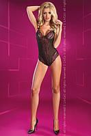 Шикарный боди с кружевом Sarisha Livia Corsetti S/M, черный+розовый