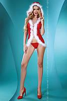 Красно-белый игровой костюм снегурочки Snow Lady Livia Corsetti Fashion S/M, красный
