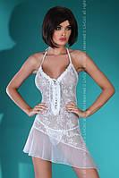 Белый пеньюар Mahalia Livia Corsetti Fashion с застежкой на спине  S/M, белый