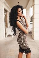 Платье Лео с гипюром