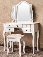 Туалетный столик Rimini  90см с 3-ма зеркалами и табуретом