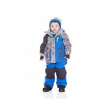 Зимний костюм для мальчиков 2-7 лет (куртка, полукомбинезон, манишка) ТМ Deux par Deux Q 818-487