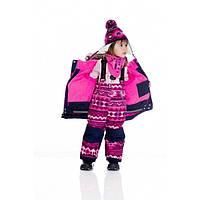Зимний термокостюм для девочки 2-7 лет (куртка, полукомбинезон, манишка) ТМ Deux par Deux B 803-499