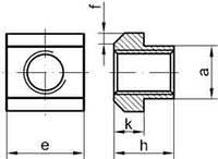 DIN 508 (ISO 299) Гайка для Т - образных пазов.