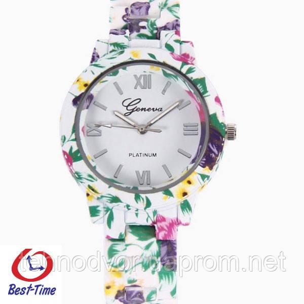 Geneva Женские часы Geneva Rainbow White, фото 1