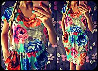 Яркое летнее платье для девушек