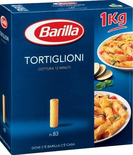 Макароны твердых сортов Barilla «Tortiglioni» n.83, (итальянские макароны барилла трубочки) 500 г.