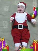Новогодний костюм Санта Клауса , Костюм Деда Мороза для ребенка Футер с начесом