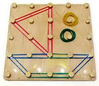 """Математический планшет игрушка """"Фантазируем с резиночками"""""""