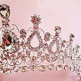 Детская диадема под серебро, тиара, высота 6,5 см., фото 6