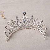 Корона для девочки под золото, высота 6,5 см., фото 3