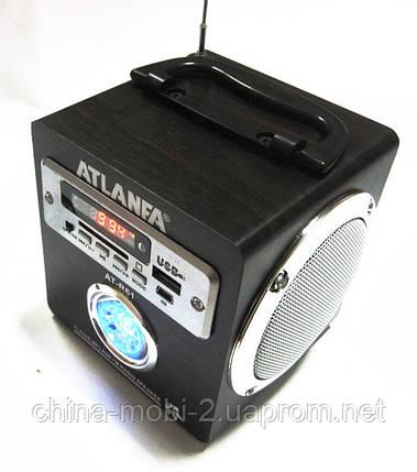 Акустическая колонка с ярким LED фонариком  Atlanfa AT-R61, MP3/SD/USB/FM, brown, фото 2
