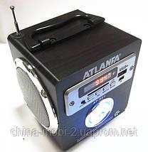 Акустическая колонка с ярким LED фонариком  Atlanfa AT-R61, MP3/SD/USB/FM, brown, фото 3