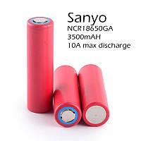 Аккумулятор Sanyo NCR18650GA (3.6В 3450мАч) ток разряда 10А
