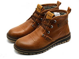 Мужские ботинки с мехом Clarks Urban Trip Brown Winter