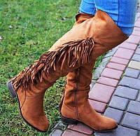 Модные утепленные женские сапоги