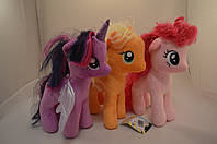 Мягкие игрушки Пони/ My Little Pony 3 вида (30 см)