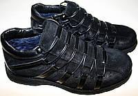 Зимние полуботинки мужские Welfare 7101244 B зимние туфли мужские, черные, нат. кожа/мех, шнурок/молния.