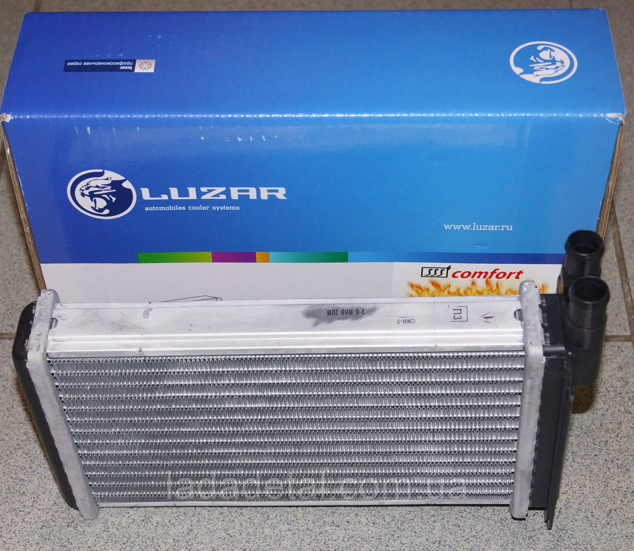Радиатор печки (печка)  ВАЗ 2108, 2109, 21099, 2113, 2114, 2115 Лузар Comfort