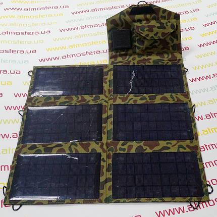 Солнечное зарядное устройство Atmosfera PETC-S21T, 21Вт, камуфляж, фото 2