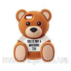 3D чехол Moschino Teddy Bear для iPhone 6\6s\Plus Силиконовый Рельефный