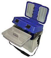 Ящик пластиковый для зимней рыбалки 2870 с мягкой накладкой до 150 кг.