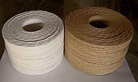 Шпагат бурый бумажный крученый диаметр 3,8-4,0 мм.